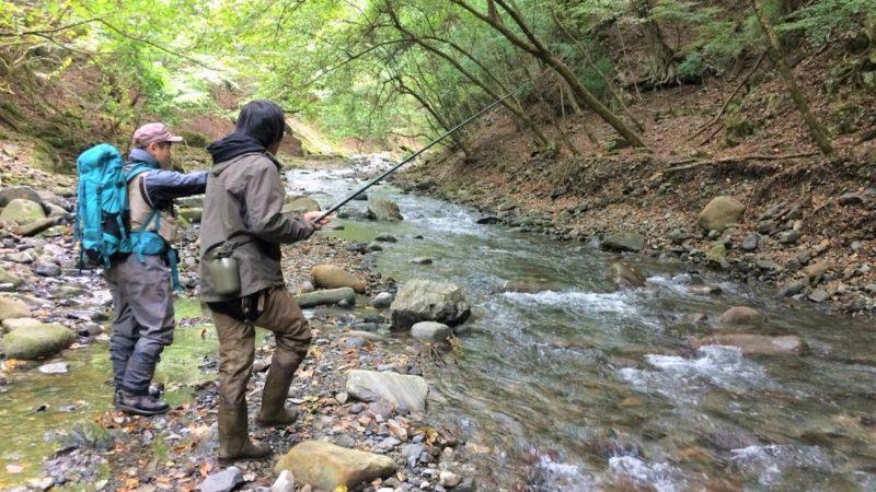 渓流釣り教室(エサ釣り実戦編)