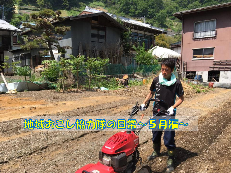 地域おこし協力隊の日常~5月編~