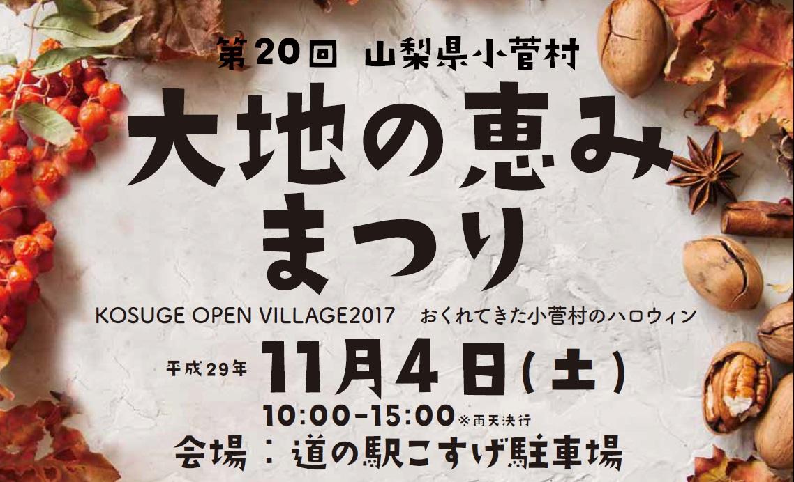 11/4(土)大地の恵みまつり開催のお知らせ!