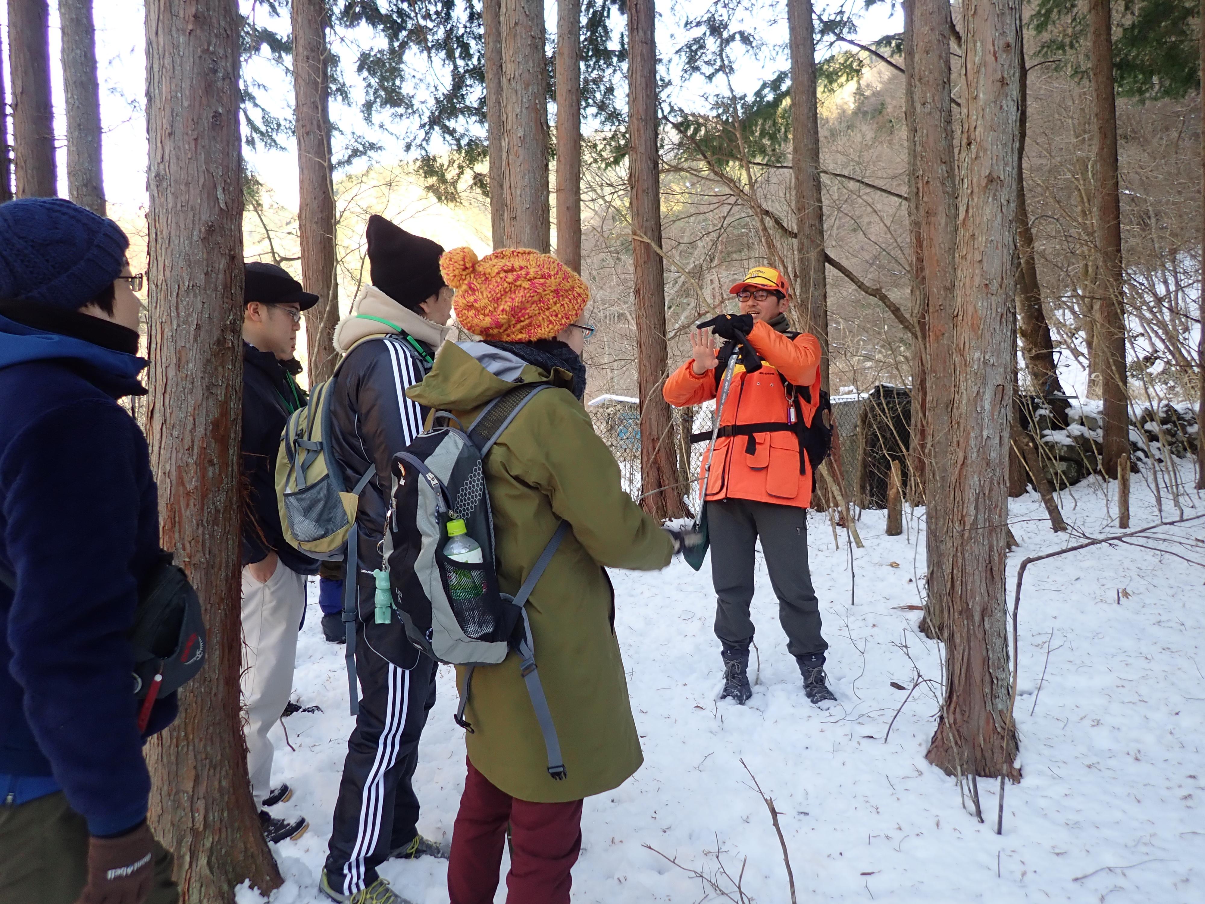 1月27,28日 猟師と一緒に山歩き