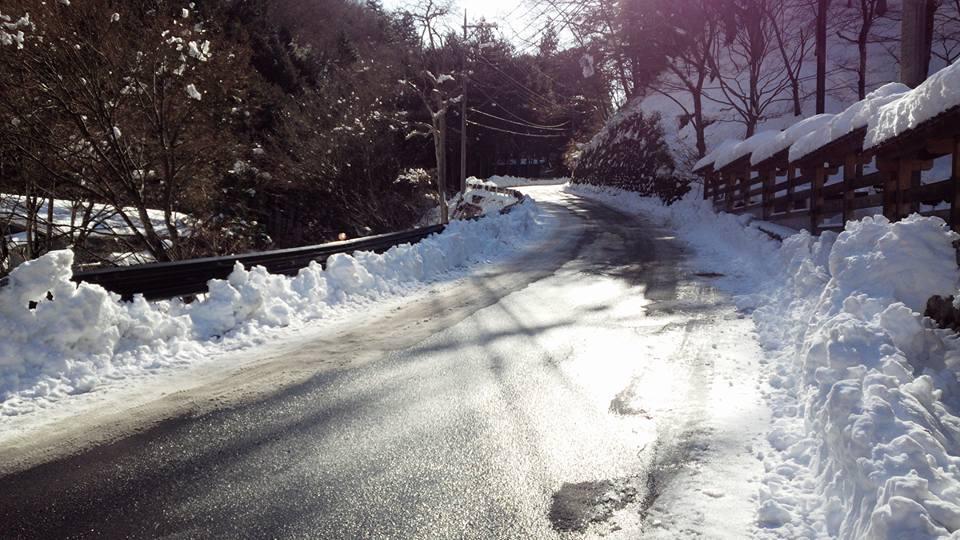 除雪が進む村